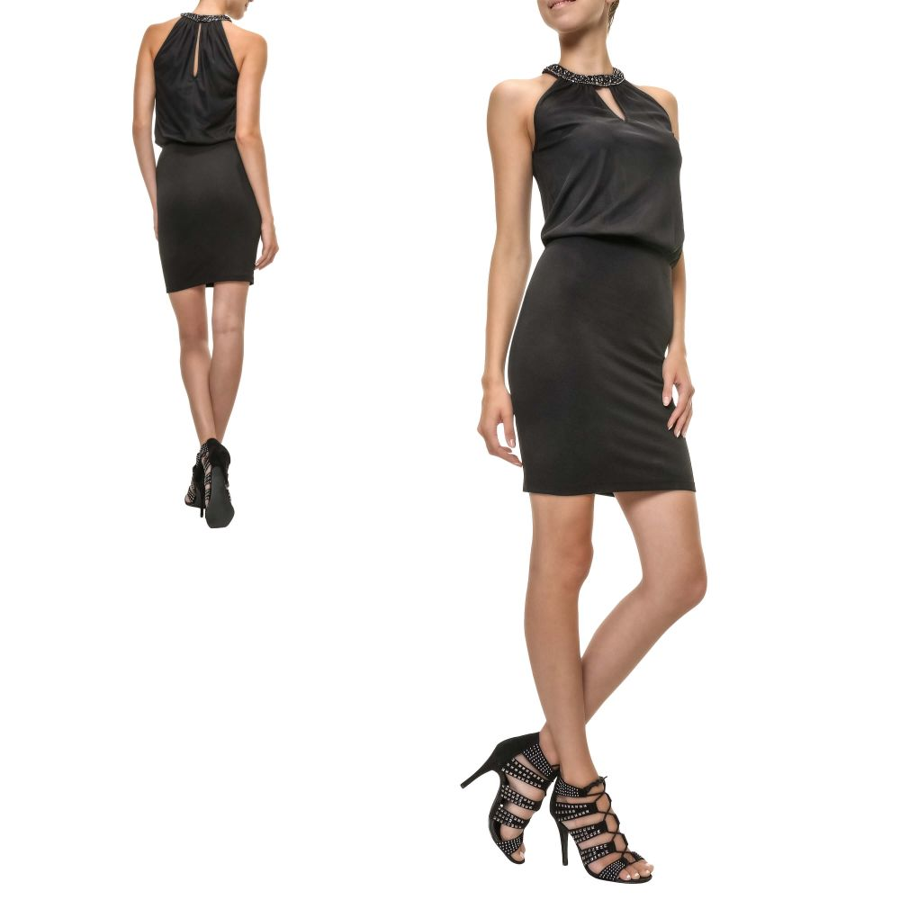 Only Damen Cocktailkleid Choker Dress Neckholder Kleid Sommerkleid ...