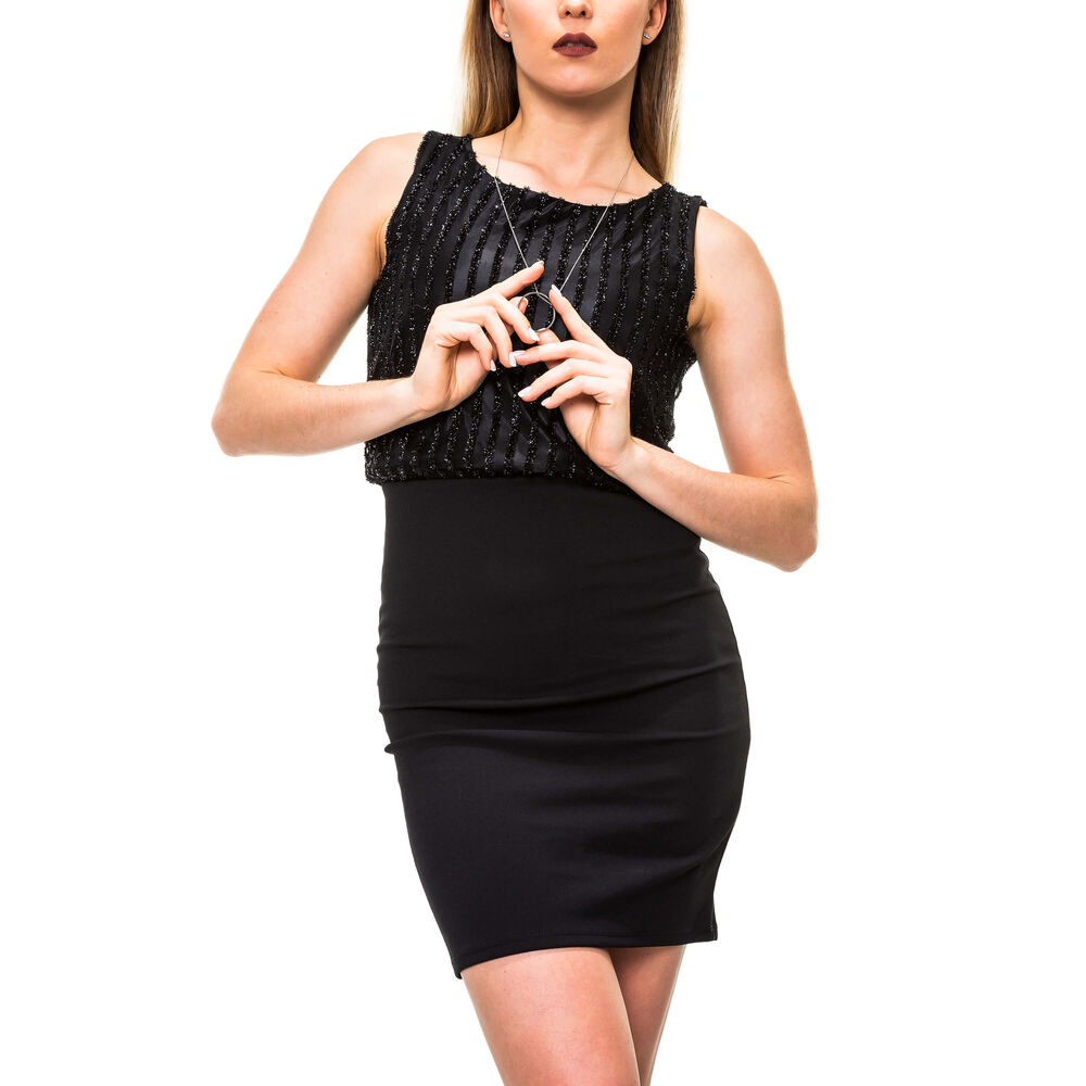 Damen-Mininikleid Damenkleid Kurzarmkleid Stretchkleid 36//38