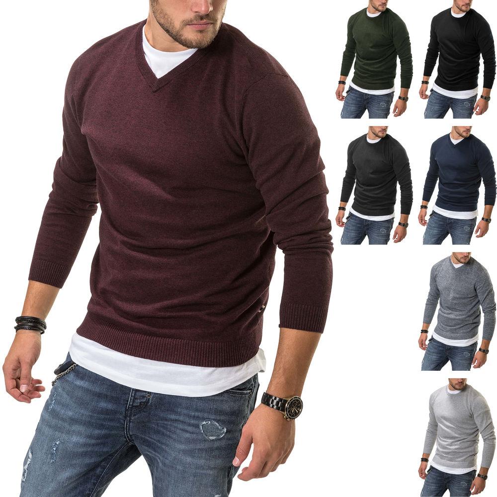 Key Largo Herren Strickpullover Pullover Langarm Leichte /& Feine Strick SALE /%
