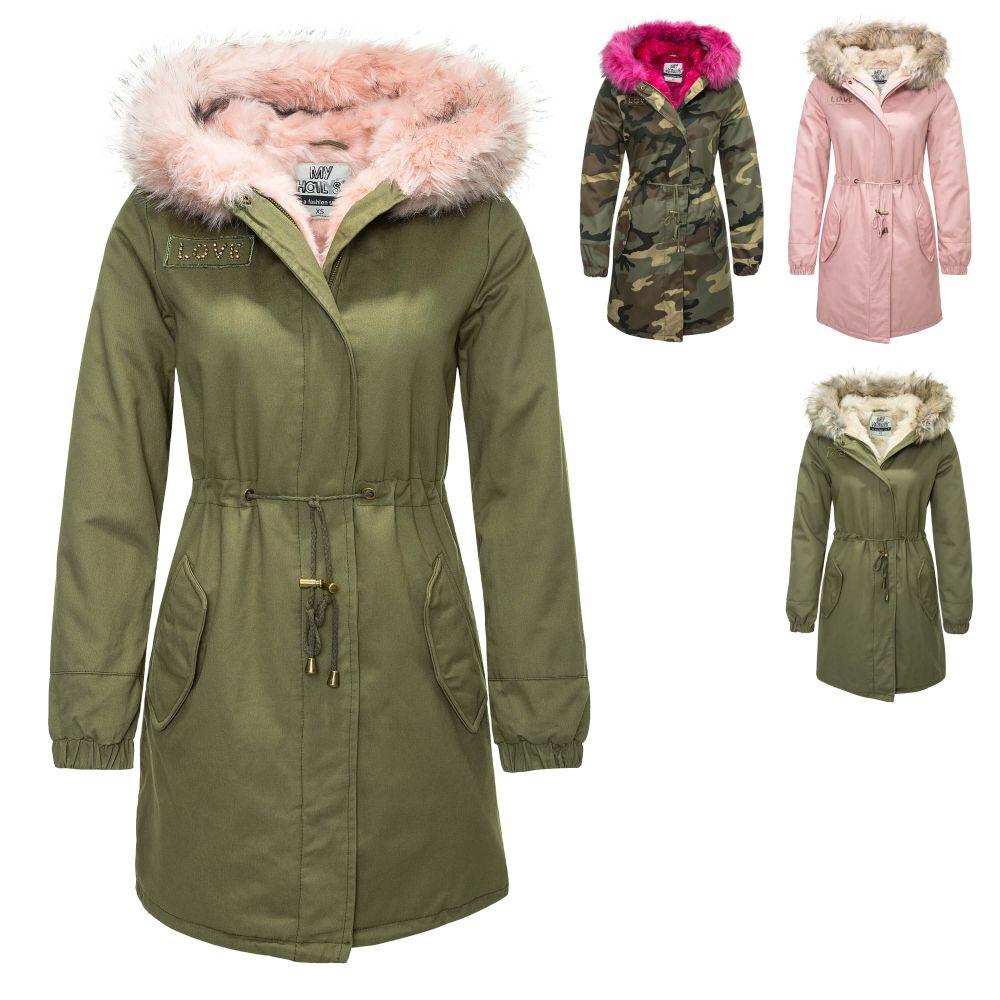 Details about Hailys Ladies Parka Winter Coat short Hooded Jacket Women's New Sale %