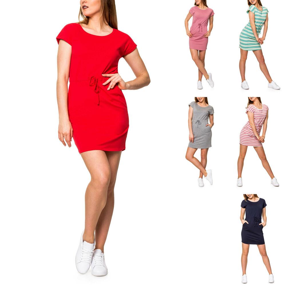 f1e7afe2226 Vero Moda Damen Shirtkleid Sommerkleid Jerseykleid Strandkleid ...