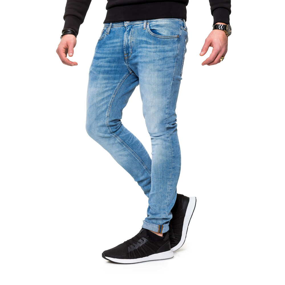 JACK /& JONES Hommes Slim Fit Jeans Denim Stretch Pantalon Court Skinny pantalon long