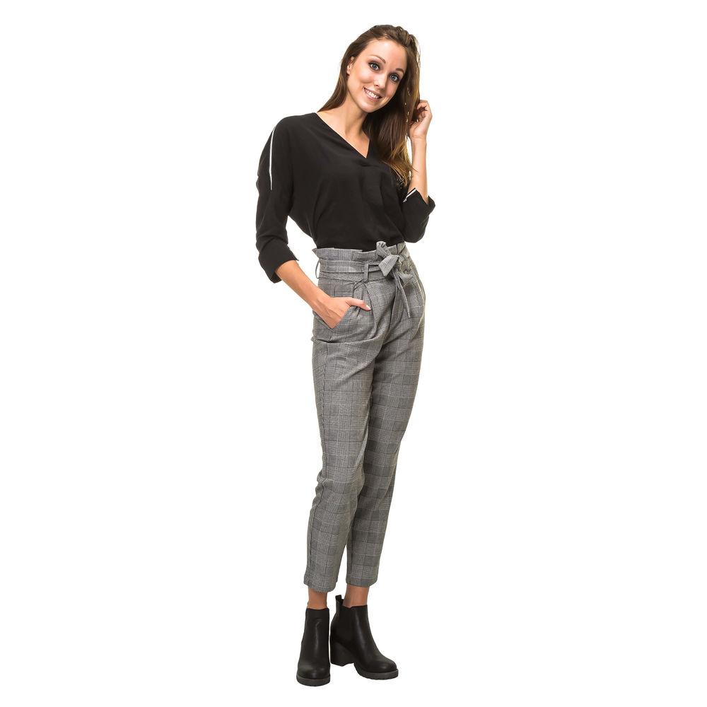 Keine Verkaufssteuer guter Service viele möglichkeiten Details zu Vero Moda Damen Paperbag Hose Businesshose Stoffhose Anzughose  Karierte Hose