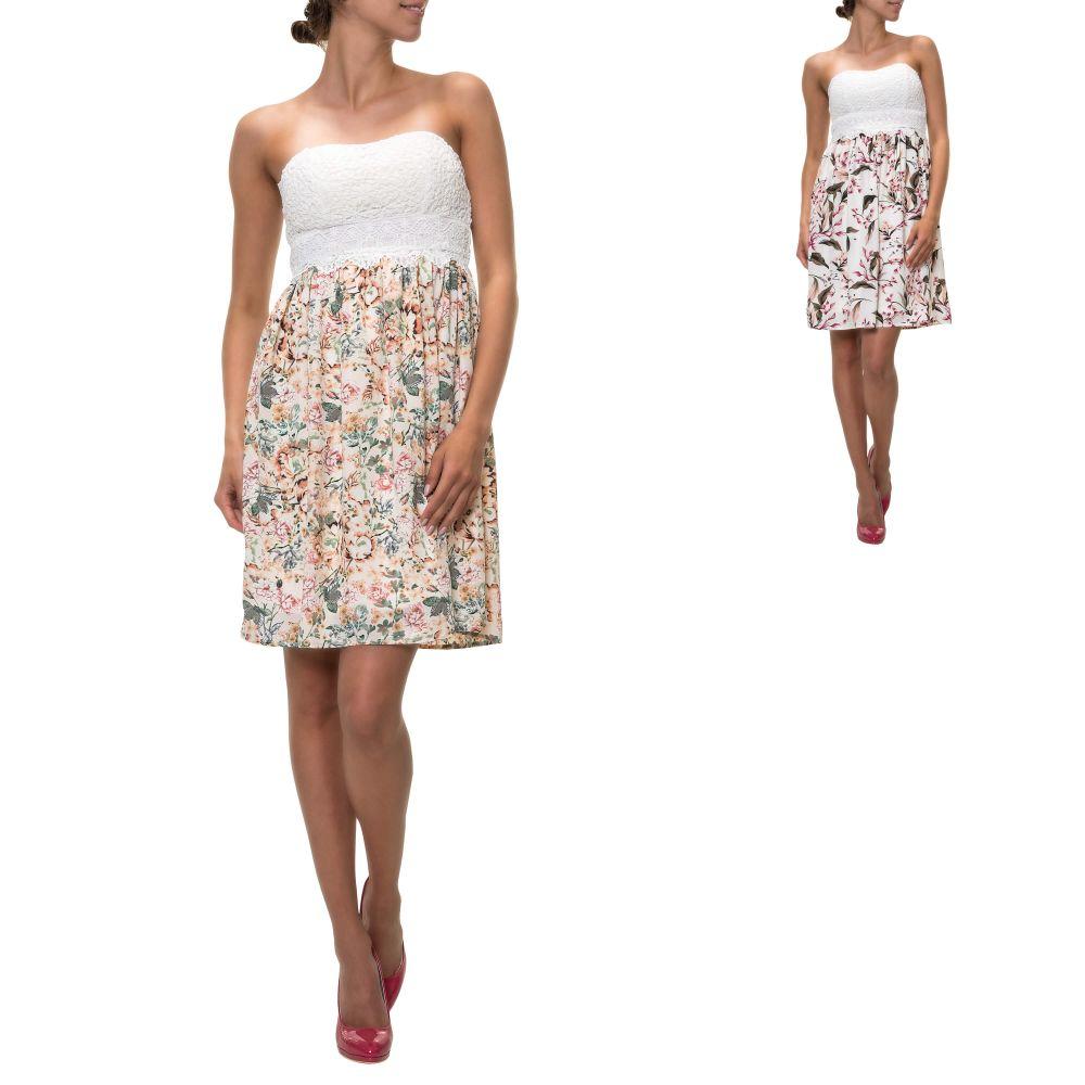 Pieces Damen Kleid Sommerkleid Trägerkleid Damenkleid Kurz Mini Color Mix NEU