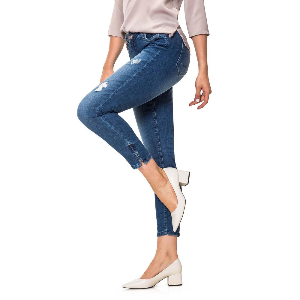 Pieces Damen Skinny Jeans Distressed Denim Lange Hose Slim Fit Freizeithose