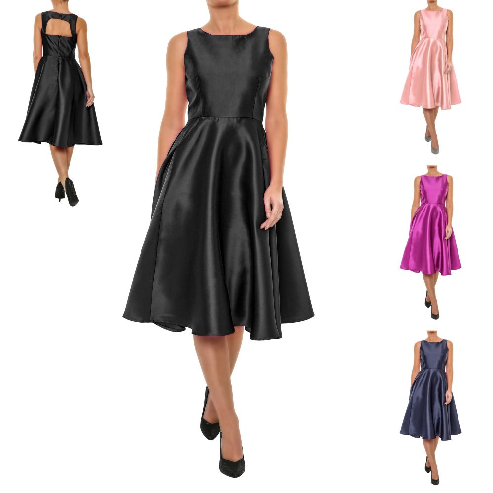 Vero Moda Damen Cocktail Kleid Abendkleid Partykleid Etuikleid Color ...