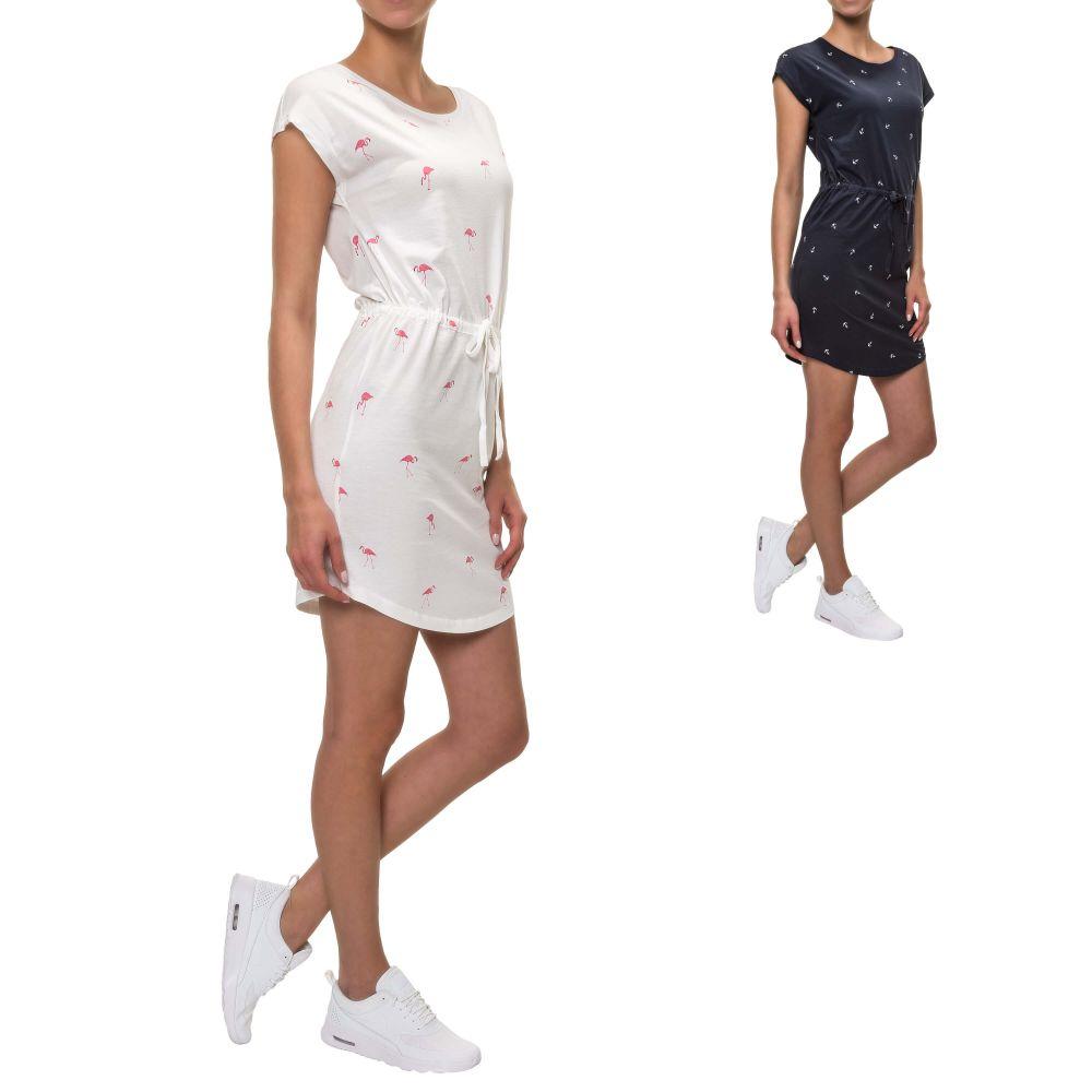 8a1fbe1a04a NEU Only Damen Jerseykleid Sommerkleid Shirtkleid Print Jersey Kleid ...