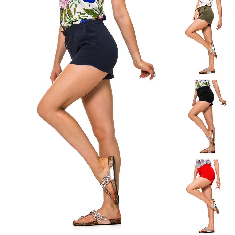 Only Damen Sommershorts Shorts Bermudas Comfort Fit Basic Color Mix NEU