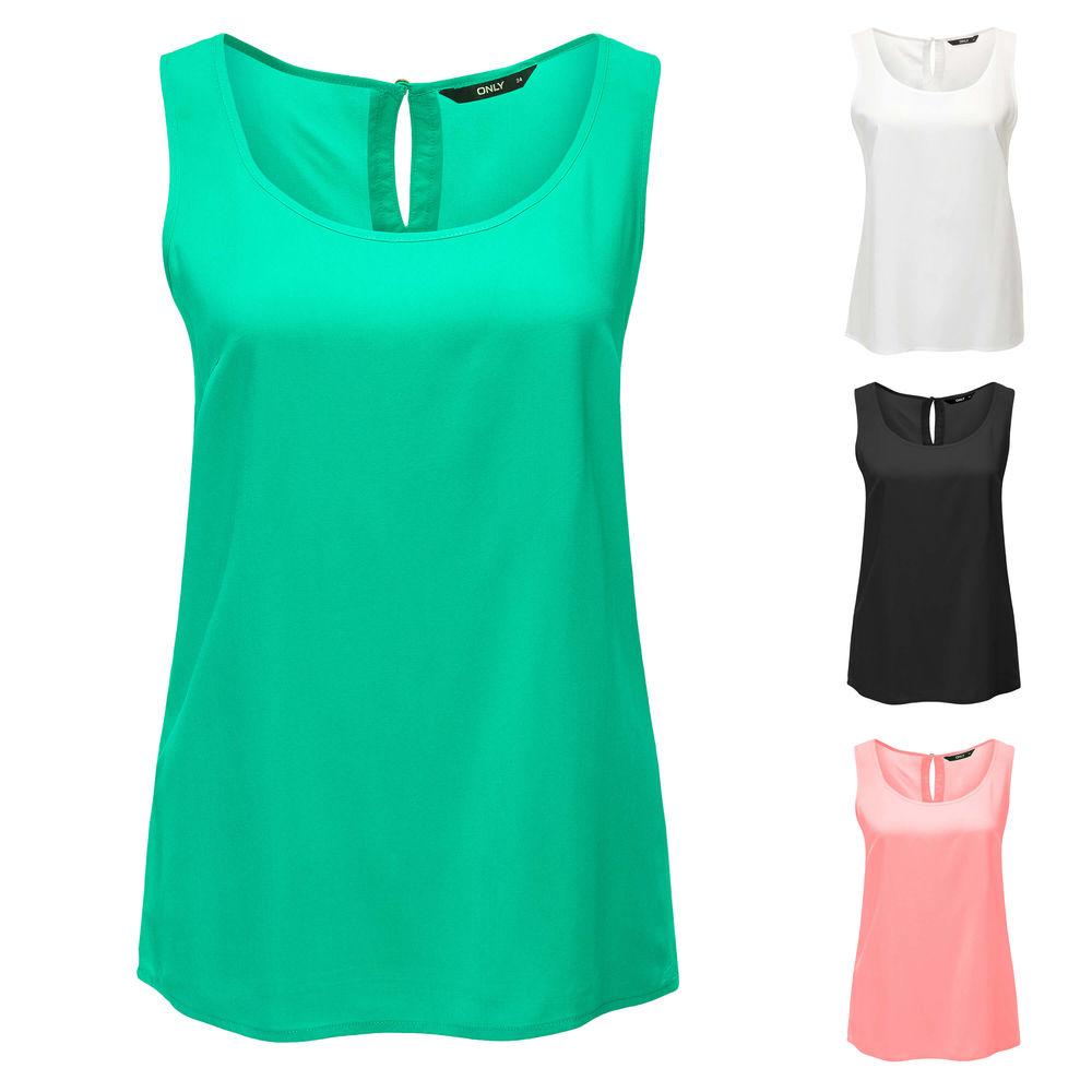 Only Damen Top Blusentop Bluse Tunika Damenshirt Shirt Basic Color Mix NEU