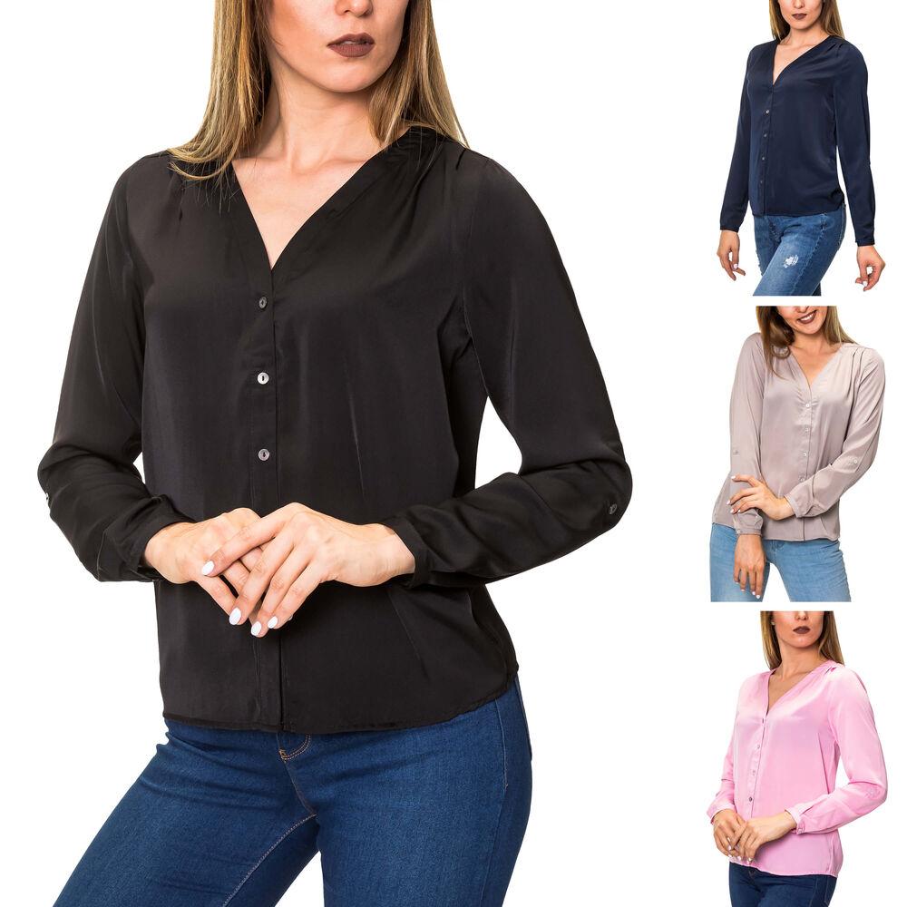 Jacqueline de Yong Damen Jeansbluse Langarmbluse Hemdbluse Damentop Damenshirt