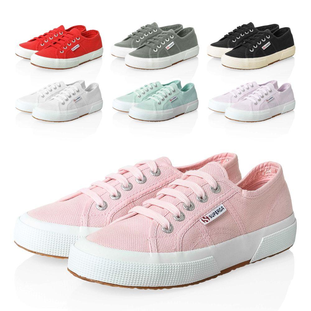 NEU Superga Damen Sneaker Low Top Canvas Sportschuhe Damenschuhe Color SALE /%