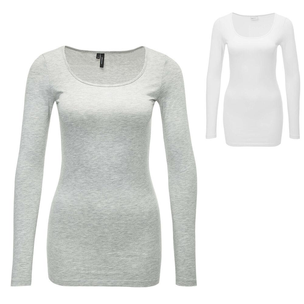 Only Damen Langarmshirt Langarmbluse Damenshirt Shirt Longsleeve Top Longshirt /%