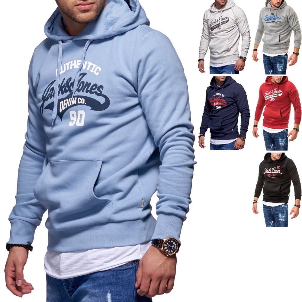 Jack   Jones Herren Hoodie Kapuzenpullover Sweat Shirt Top ... 19e78245a1