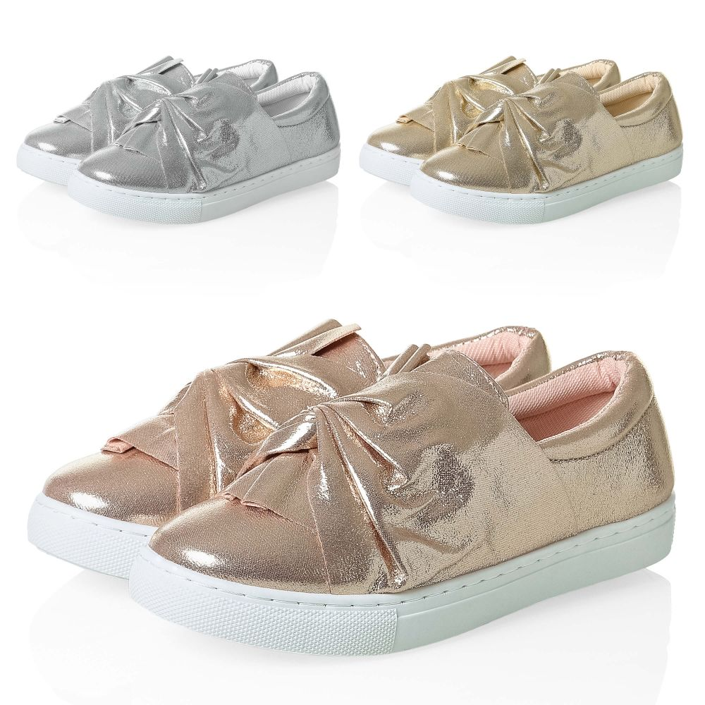 Ons Color Mit Zu Hailys Mix Slipper Schuhe Neu Schleife Metallic Damen Slip Details Sneaker BeWQrxoCd