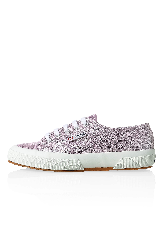 NUOVO-Superga-Donna-Scarpe-Sportive-Sneaker-low-top-canvas-GLITTER-LACCI-Sale miniatura 6