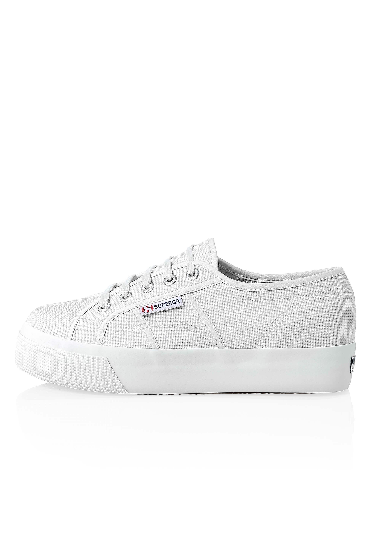 Superga-Donna-Canvas-Sneaker-Low-Top-Suola-Plateau-Scarpe-Donna-Scarpe-Tempo-Libero miniatura 3