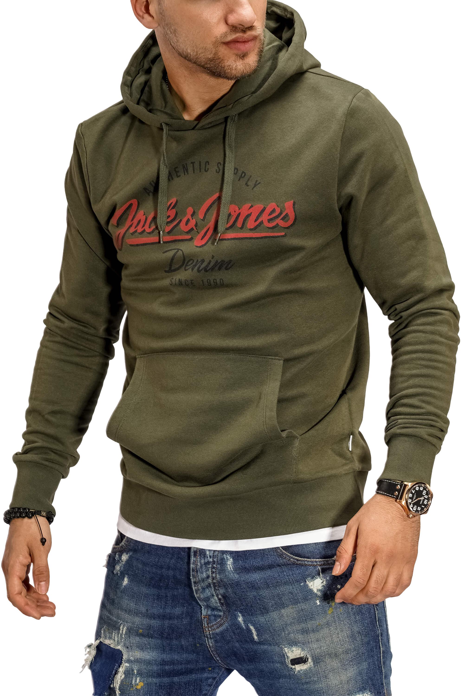 Jack-amp-Jones-senores-Hoodie-sudaderas-con-Print-Sweater-sueter-Streetwear miniatura 7