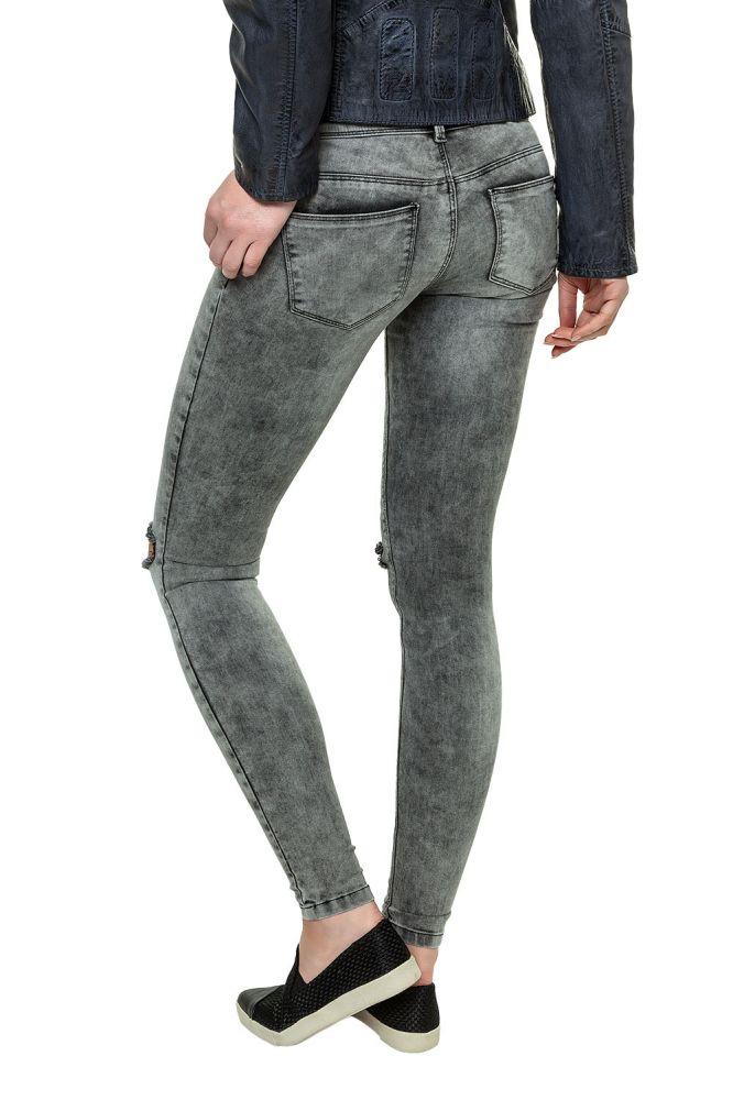 Only Damen Knee Cut Jeans Skinny Röhrenjeans Jeanshose Hose Denim ...