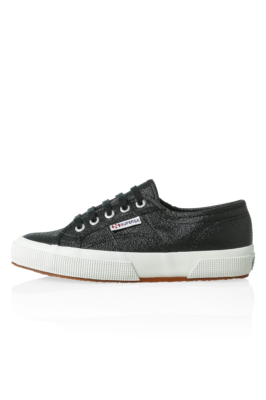 NUOVO-Superga-Donna-Scarpe-Sportive-Sneaker-low-top-canvas-GLITTER-LACCI-Sale miniatura 3
