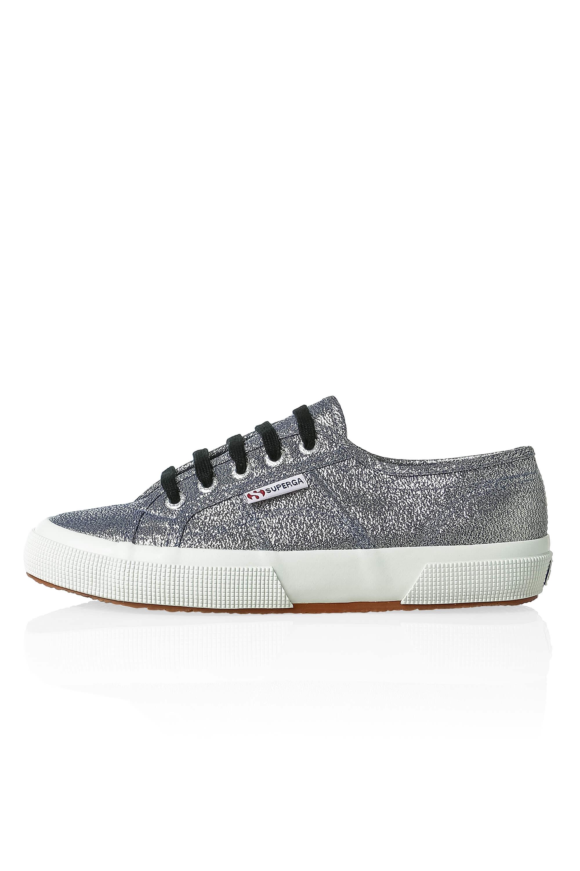 NUOVO-Superga-Donna-Scarpe-Sportive-Sneaker-low-top-canvas-GLITTER-LACCI-Sale miniatura 9