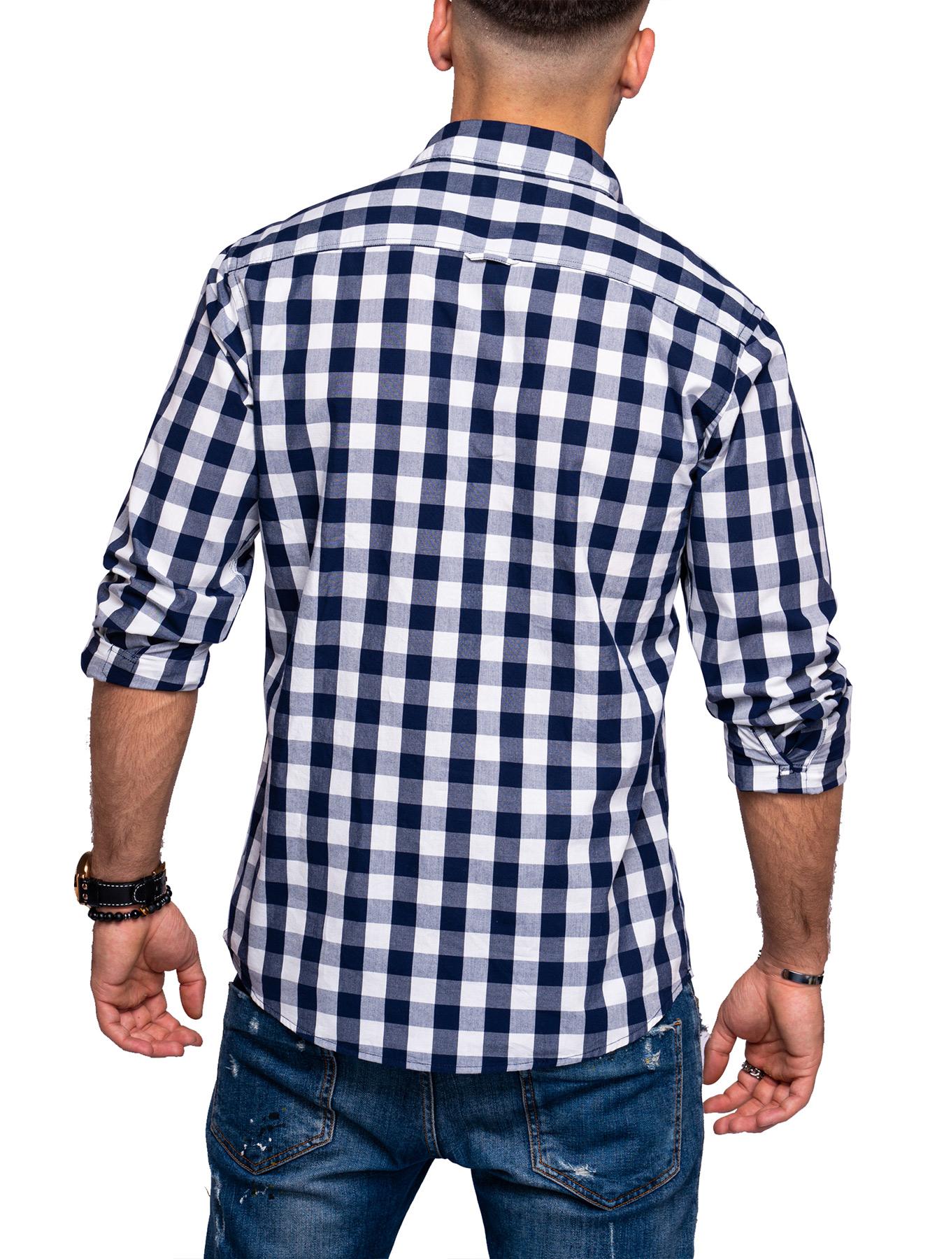 Jack-amp-Jones-Herren-Kariertes-Hemd-Langarmhemd-Freizeithemd-Casual-Karohemd Indexbild 6
