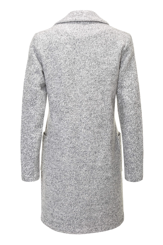 Only Damen Kurzmantel Long Blazer mit Melange-Optik Damenmantel Mantel Business