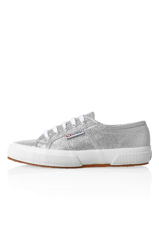 NUOVO-Superga-Donna-Scarpe-Sportive-Sneaker-low-top-canvas-GLITTER-LACCI-Sale miniatura 12