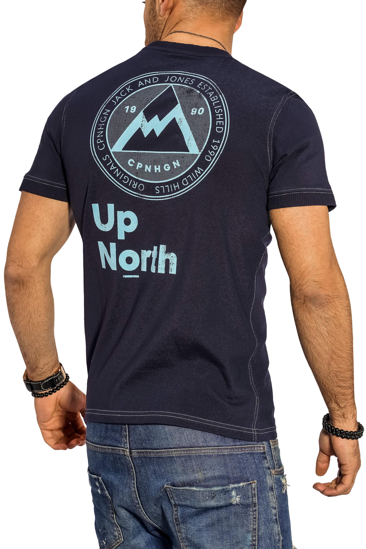 Jack-amp-Jones-Herren-T-Shirt-O-Neck-Print-Shirt-Kurzarmshirt-Herrenshirt-Top-SALE Indexbild 32