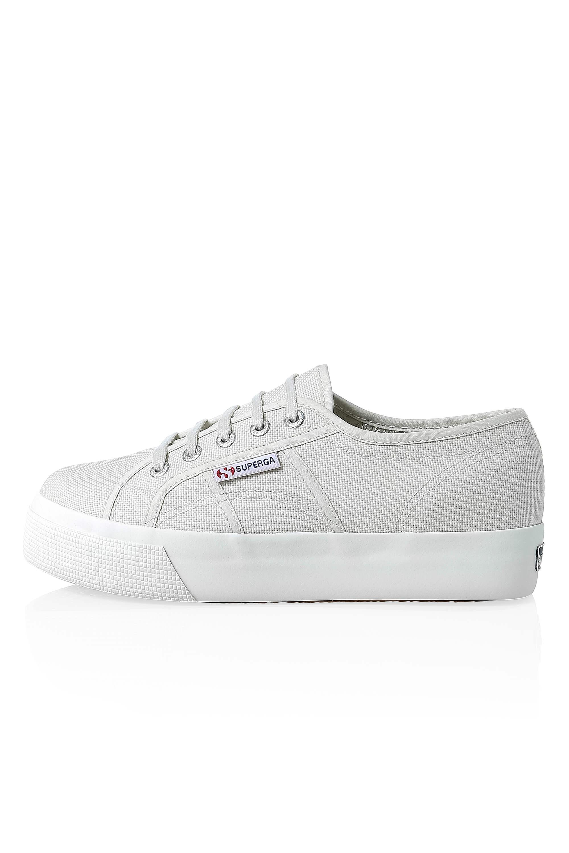 Superga-Donna-Canvas-Sneaker-Low-Top-Suola-Plateau-Scarpe-Donna-Scarpe-Tempo-Libero miniatura 9