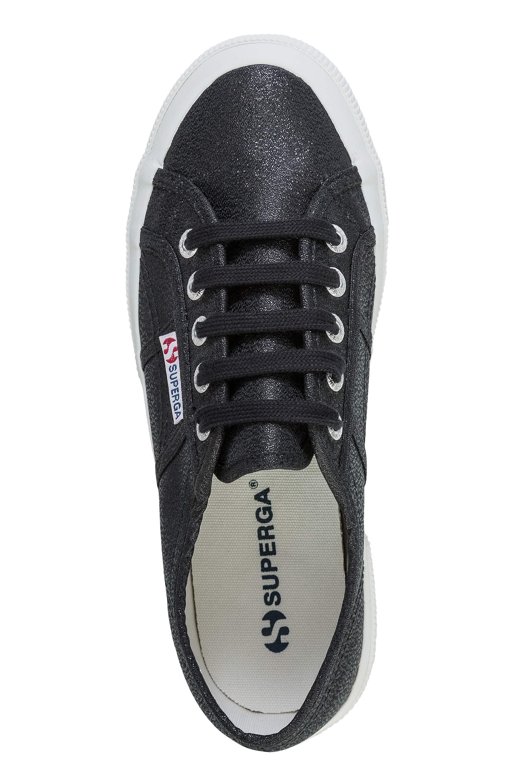 NUOVO-Superga-Donna-Scarpe-Sportive-Sneaker-low-top-canvas-GLITTER-LACCI-Sale miniatura 4