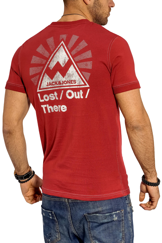 Jack-amp-Jones-Herren-T-Shirt-O-Neck-Print-Shirt-Kurzarmshirt-Herrenshirt-Top-SALE Indexbild 30