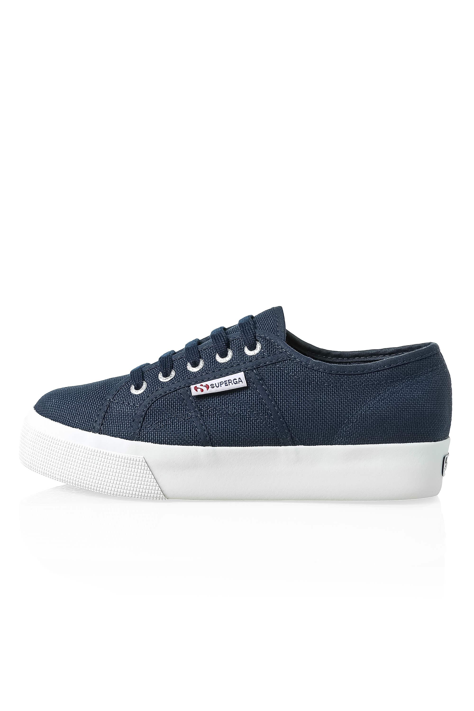 Superga-Donna-Canvas-Sneaker-Low-Top-Suola-Plateau-Scarpe-Donna-Scarpe-Tempo-Libero miniatura 6