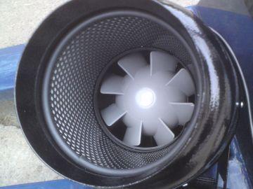 TT Silent metallo 150mm 555m³ vents ventola del tubo silenziosità Ventola Ventilatore