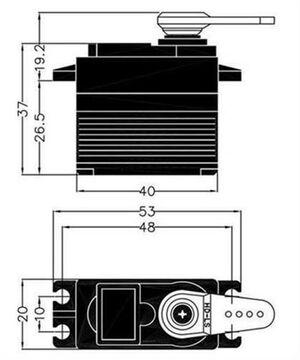 Multiplex//Hitec RC Servo d955tw//116955