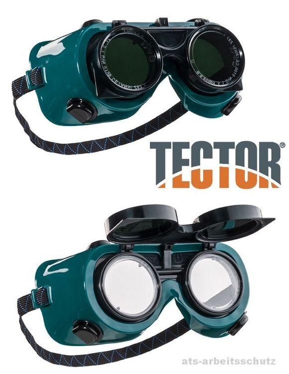Tector Schweißerbrille klappbar Schutzbrille Schneidbrenner Autogenschweißen NEU