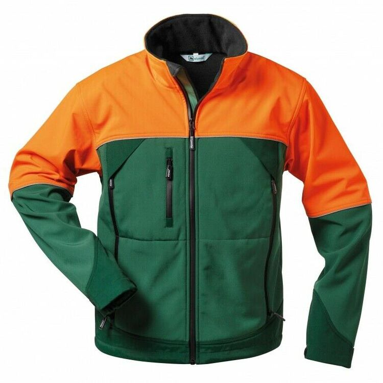 Elysee Softshell Jacke ohne Schnittschutz Forst  Forsthose Motorsäge Gr.S-3XL