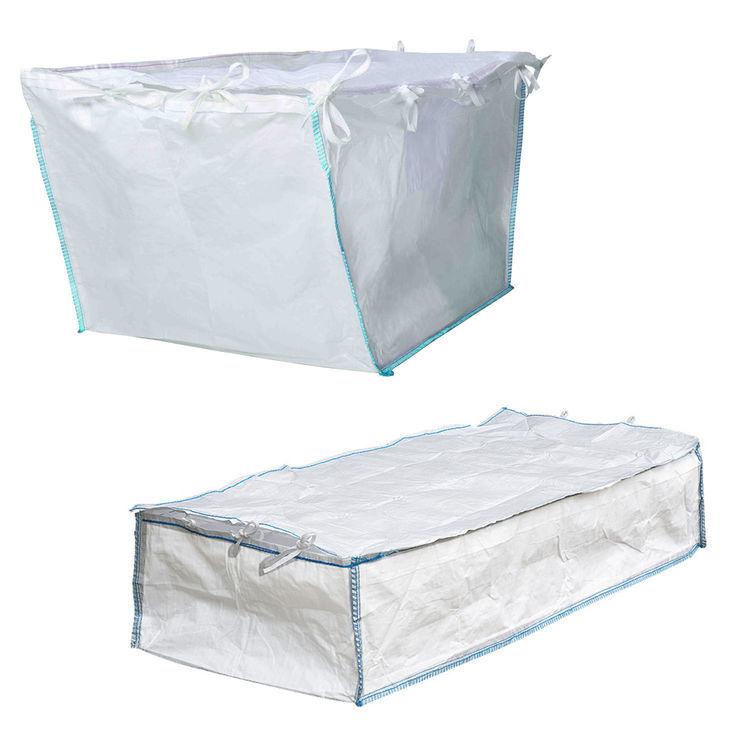 Containerbag Absetzmulde Container Bag mit Schürzendeckel zum zubinden Big Bag