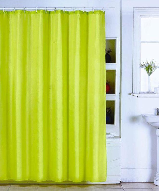 MSV Duschvorhang 180x200cm Anti Schimmel Textil Badewannenvorhang Wannenvorhang Grün