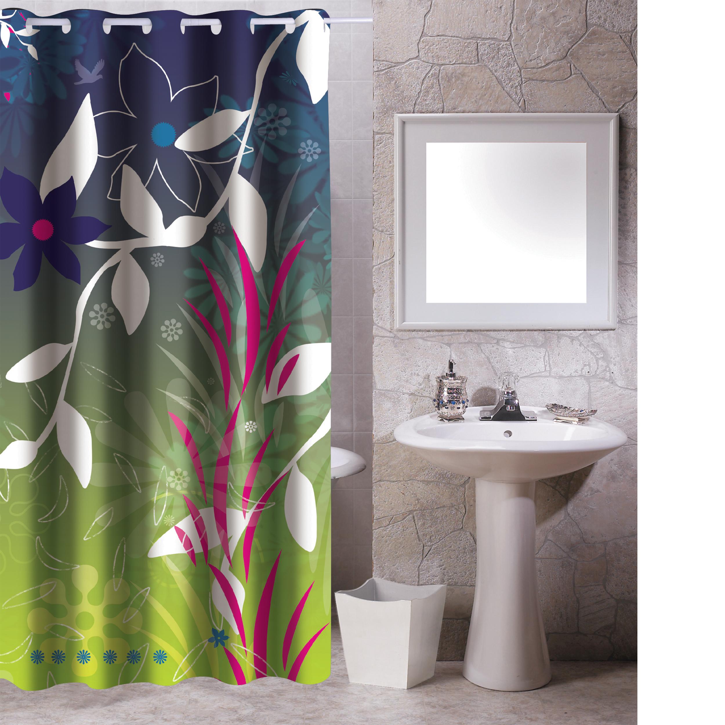 MSV Duschvorhang 180x200cm Anti Schimmel Textil Badewannenvorhang Wannenvorhang Langkawi