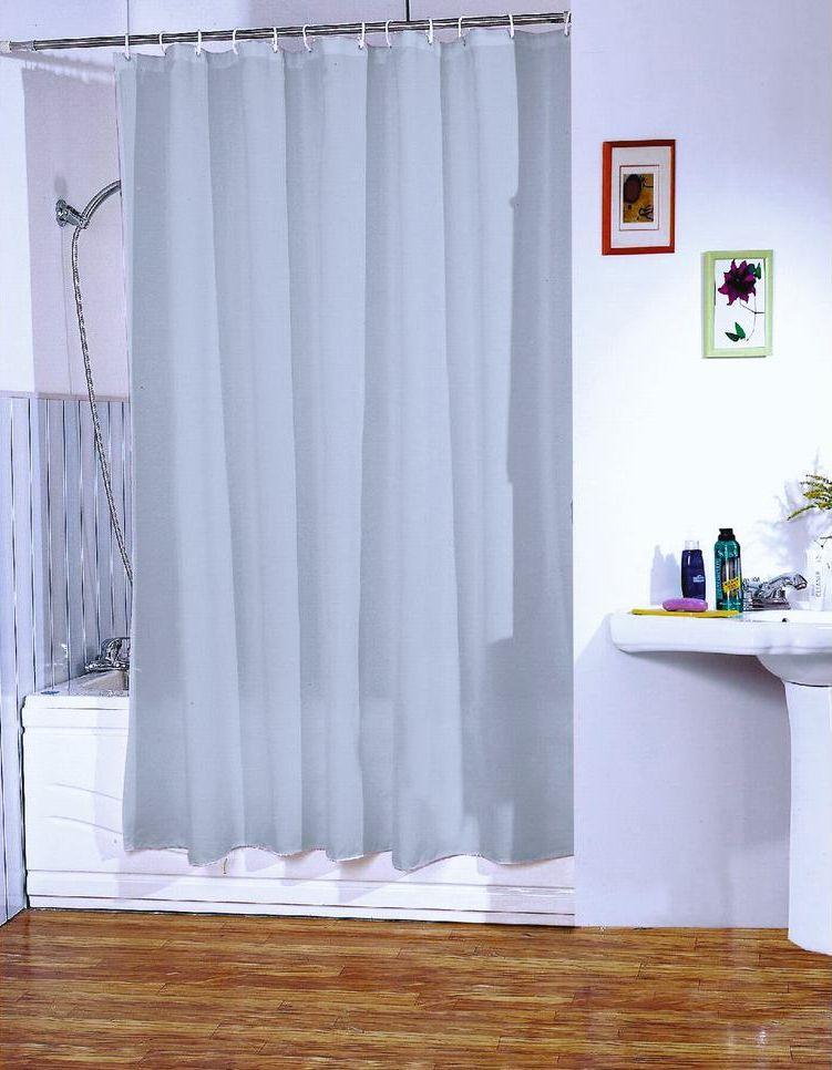 MSV Duschvorhang 180x200cm Anti Schimmel Textil Badewannenvorhang Wannenvorhang Grau