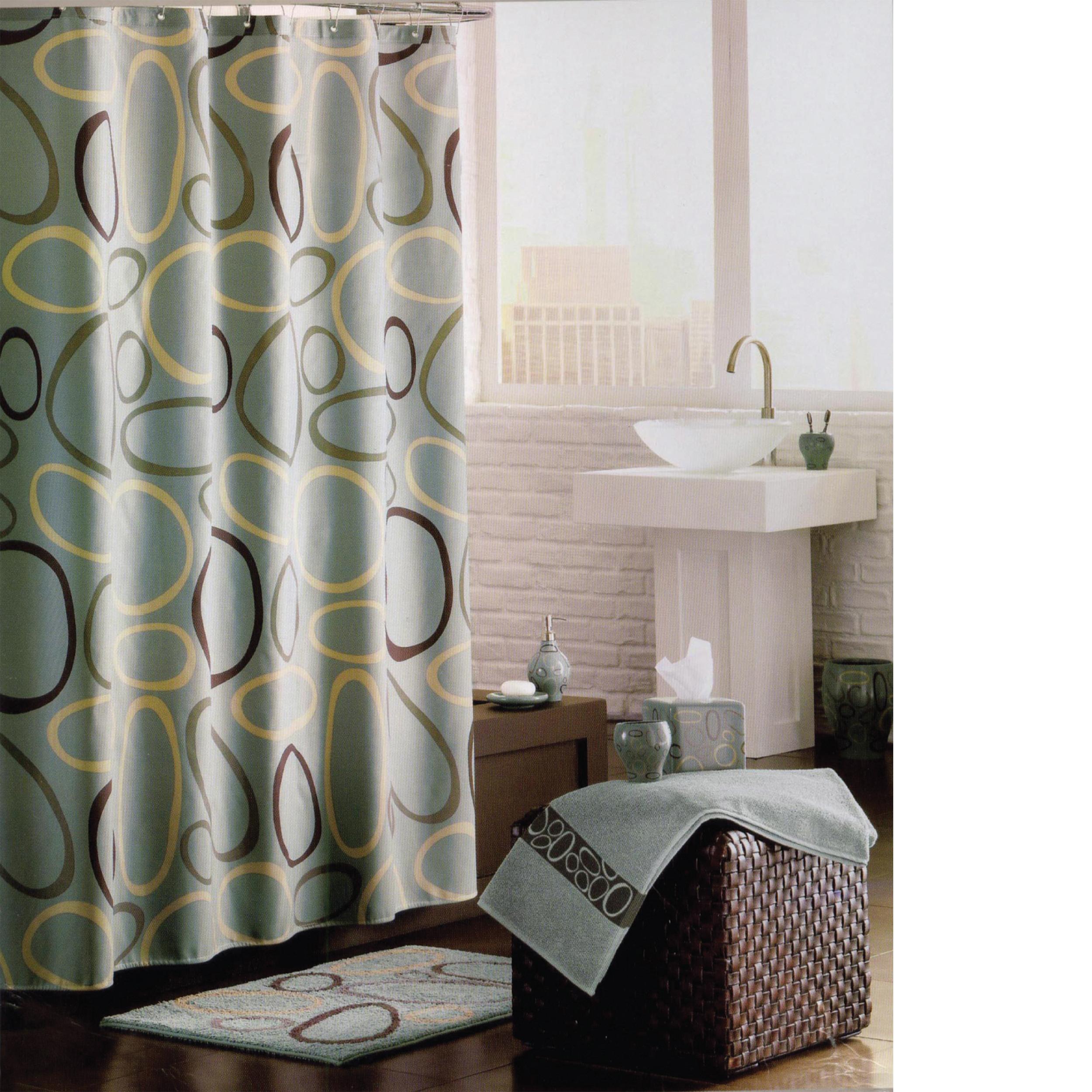 MSV Duschvorhang 180x200cm Anti Schimmel Textil Badewannenvorhang Wannenvorhang Ovale