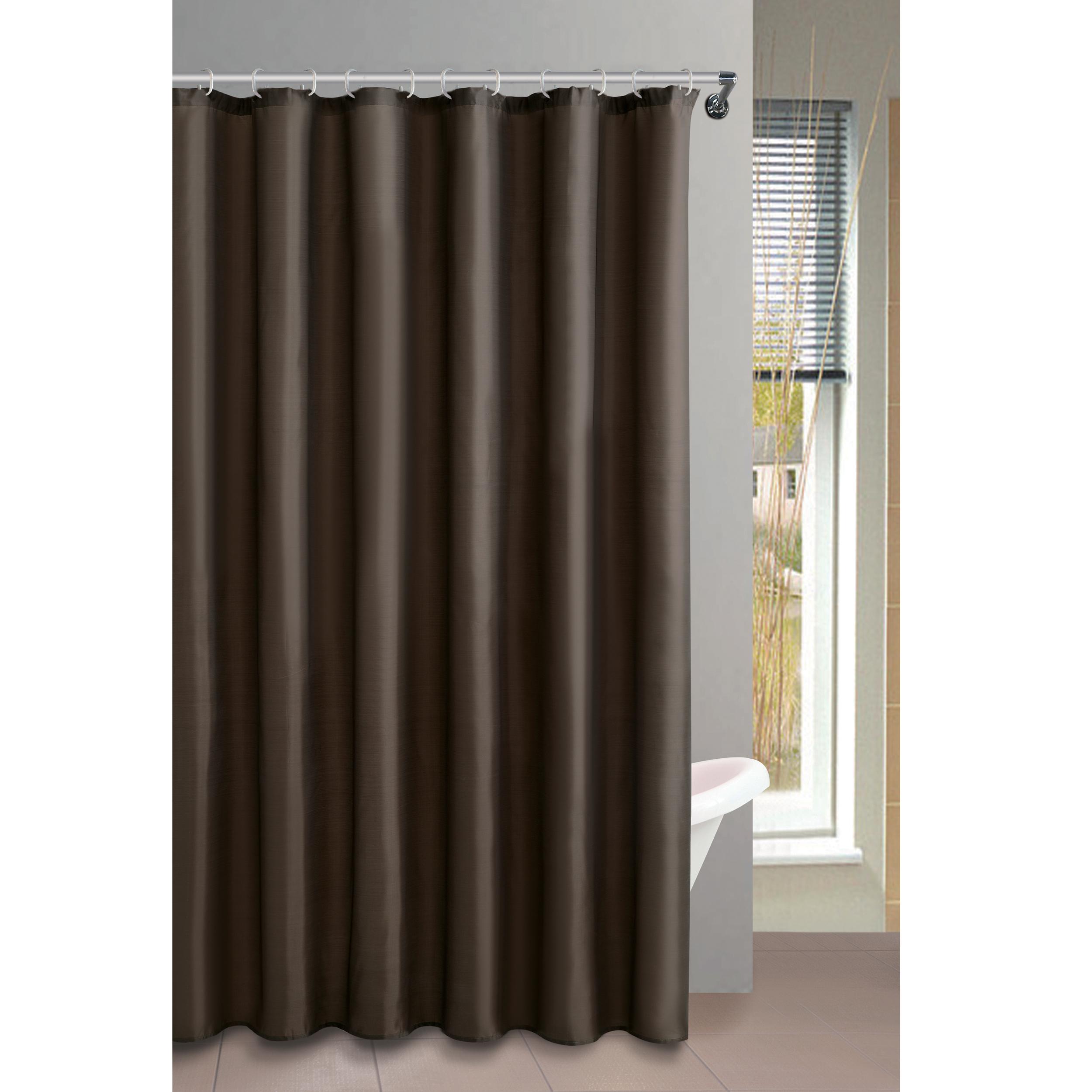 MSV Duschvorhang 180x200cm Anti Schimmel Textil Badewannenvorhang Wannenvorhang Braun