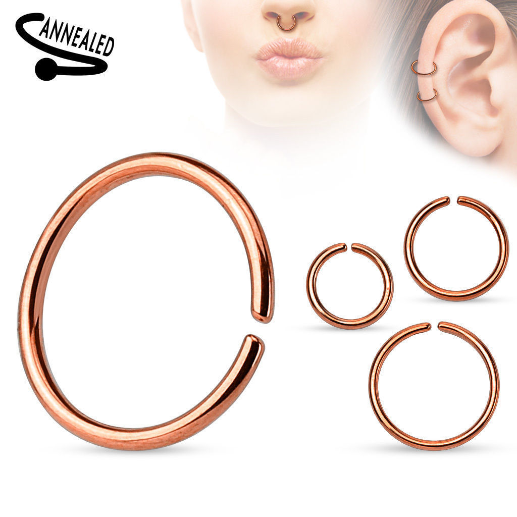 Nasenpiercing-Ring-Septum-Fake-Piercing-Nasenring-Tragus-Ohr-Helix-Lippen-Intim Indexbild 10