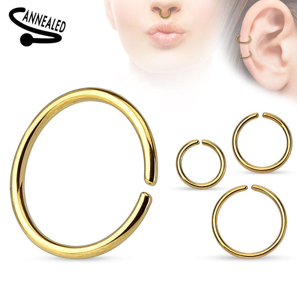 Nasenpiercing-Ring-Septum-Fake-Piercing-Nasenring-Tragus-Ohr-Helix-Lippen-Intim Indexbild 6