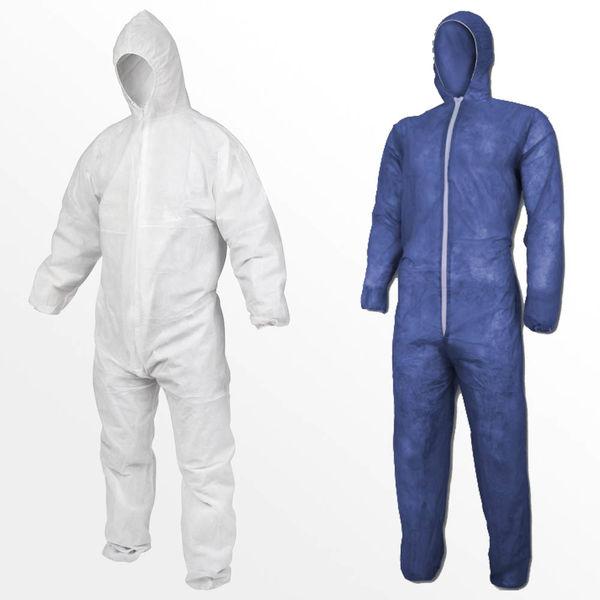 Einweg Overall Schutzkleidung Schutzanzug Lackieranzug Maleranzug weiß Kaputze