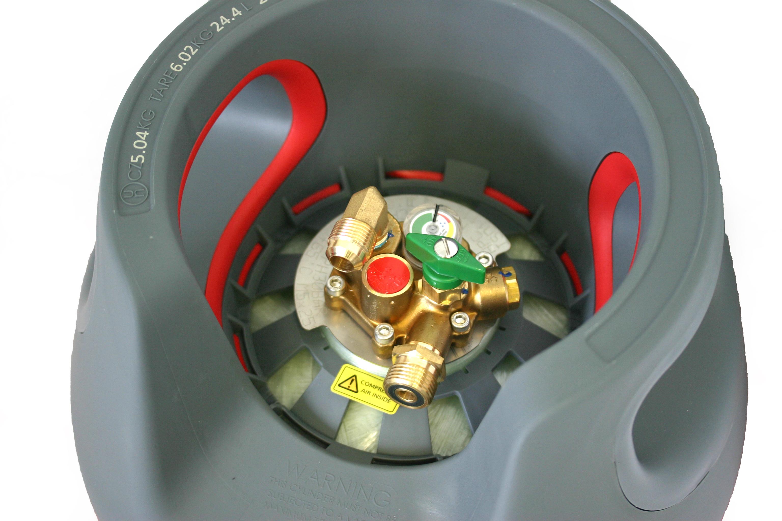 KOMPOSIT-Gasflasche-24-5L-wiederbefuellbar-mit-Multiventil-80-Fuellstop-AUTOGAS Indexbild 4