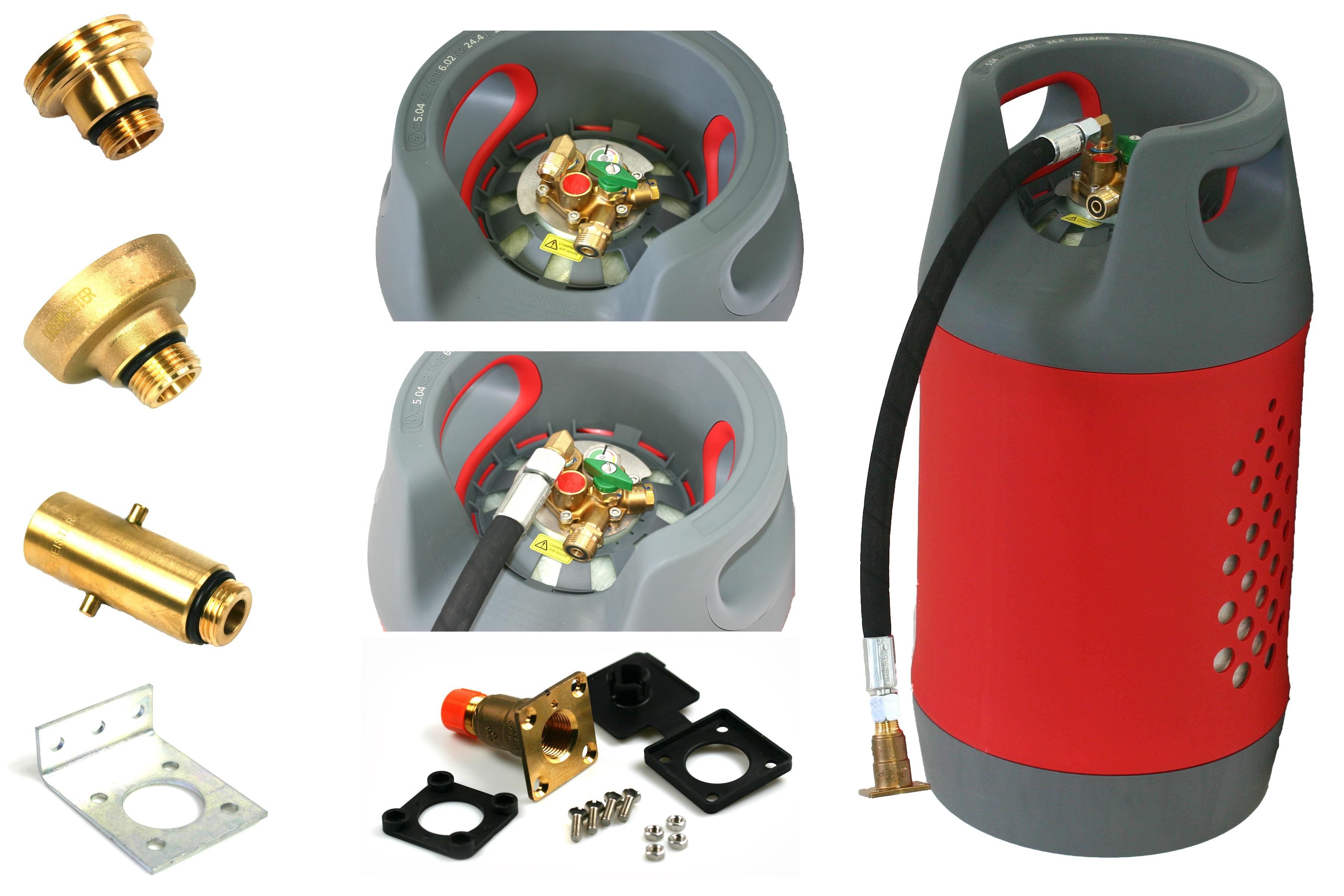 KOMPOSIT-Gasflasche-24-5L-wiederbefuellbar-mit-Multiventil-80-Fuellstop-AUTOGAS