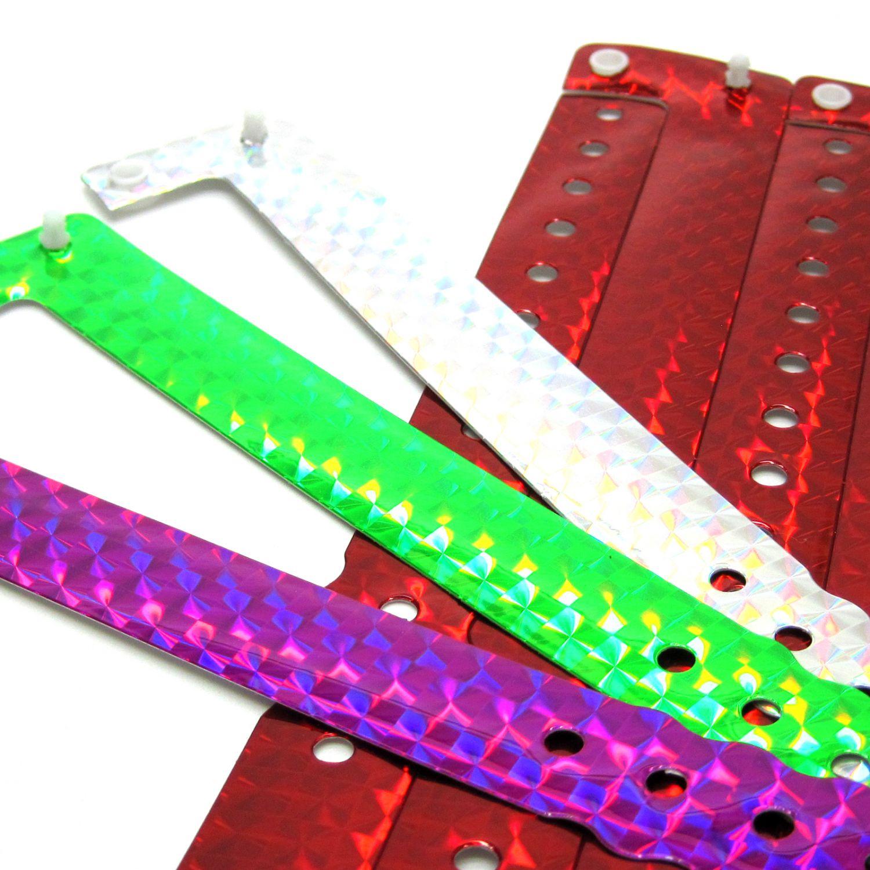 100 Kunststoff Eintrittsbänder Kontrollbänder Einlassbänder Vipbänder Hologramm
