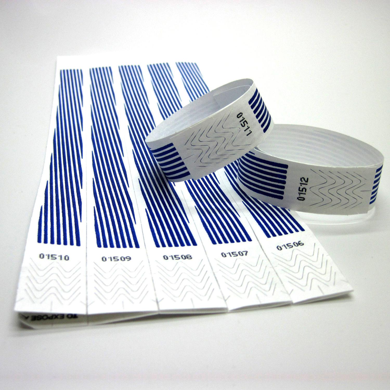 100 Eintrittsbänder Kontrollbänder Einlassbänder Vipbänder Bändchen Sterne blau