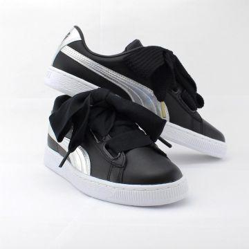 Details zu Puma Basket Heart Explosive Wn's 363626 01 Damenschuh Women Sneaker schwarz